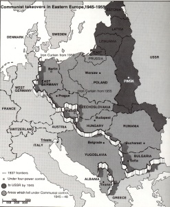 1945/55 Europe Iron Curtain